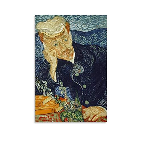 QWKM Art Painting Van Gogh Ritratto Dottor Gachet - Lienzo decorativo para pared (30 x 45 cm)
