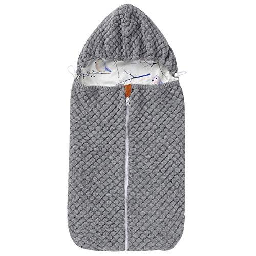 Yinuoday Baby Winter Schlafsack Neugeborene Strick Wickeldecke Kinderwagen Wrap Schlafsack mit Reißverschluss für 0-6 Monate Babys