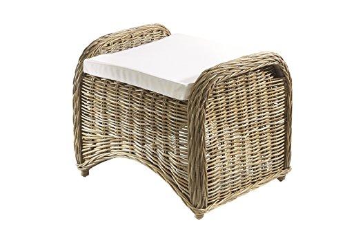 Kobolo Rattanhocker Fußhocker Sitzmöbel aus Rattan