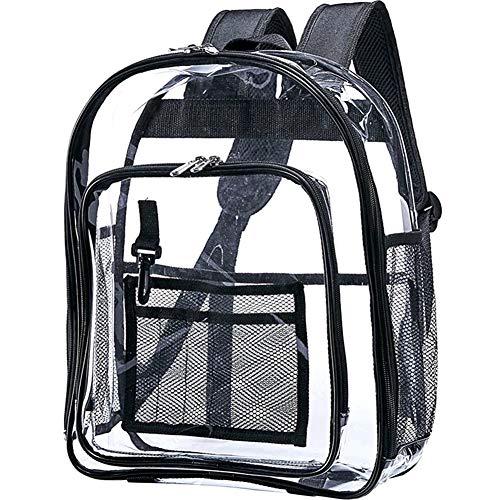 Gaoominy Schwer Pflicht Klarer Rucksack, Transparenter Schul Rucksack, Durchsichtige Bücher Tasche Für Arbeit, Sicherheits Kontrolle Und Reisen