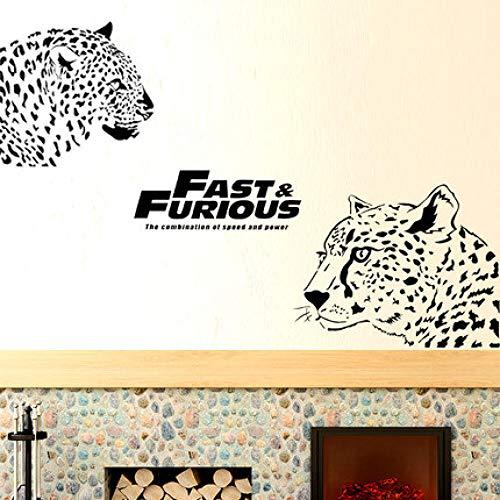 Tier Leopard Wandaufkleber selbstklebende Tapete Sofa Hintergrund Wandmalerei Wohnzimmer Dekoration Figured Leopard Poster
