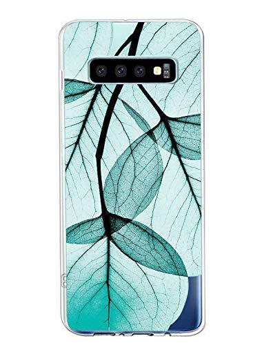 Suhctup Compatible con Samsung Galaxy S7 Edge Funda Flor de TPU Transparente Diseño de Flores Patrón Cárcasa Ultra Fina Suave con Dibujos Claro Silicona Antigolpes Proteccion Caso(A8)
