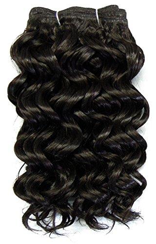 chear Eau Vague Trame Extension de cheveux humains avec de mélange tissage, numéro 2, marron foncé, 25 cm