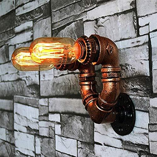 Lámparas de pared industriales, Estilo industrial de la vendimia creativa del tubo de agua ligera de la pared 2 enciende la lámpara pared de Steampunk por Loft Bar Corredor Balcón, titular de la lámpa