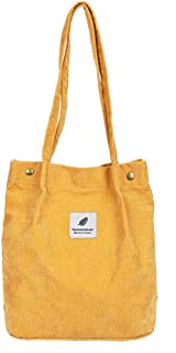 Romica0 Women's Shoulder Hand Bag Tote Bag Corduroy Tote Shoulder Bag Stylish Shopping Casual Bag Travel Bag