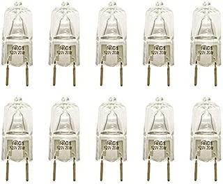 VSTAR G8 120V 20W Halogen Light Bulbs,2700K,with G8 Base,Shorter<35mm(10 Pcs)