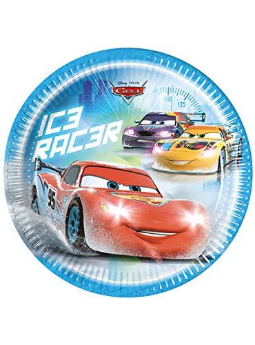 Funidelia 8 Assiettes Cars Ice de 23 cm