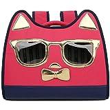ペットキャリアのバックパック漫画の形のペットバッグ猫と犬旅行メッセンジャーショルダーバッグペットバックパックペット用品旅行ハイキング(コルまたは:レッド、サイズ:40x30x20cm) (Color : Red, Size : 40x30x20cm)