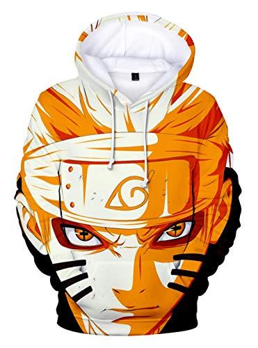HUASON Niños Sudadera con Capucha Naruto 3D Impresión Pullover Anime Manga Larga Hoodie