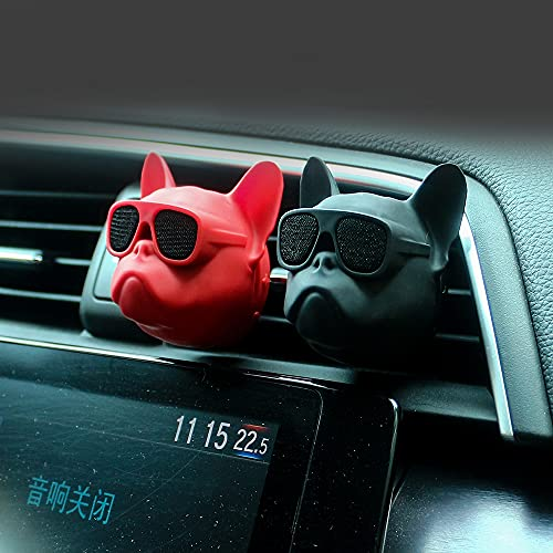 JLC French Bulldog Car Air Freshener Air Conditioning Vent Clips Aromatherapy Diffuser Perfume for Car Fragrance Scented Essential Interior Accessories (Red)