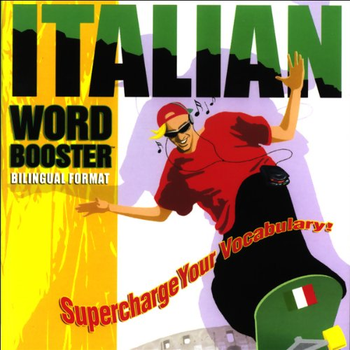 Italian Word Booster audiobook cover art
