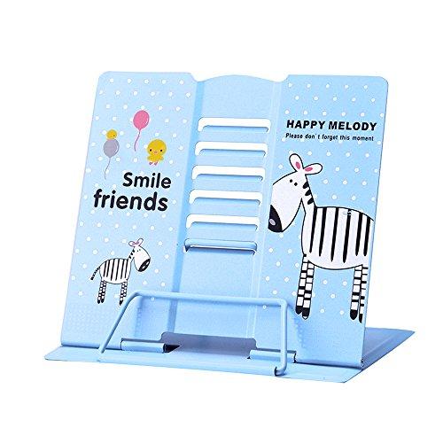 Tumao Leseständer Buchstützen Buchständer Book Stand für Küche und Büro als Kochbuchhalter und Leseständer Buchstütze Blau