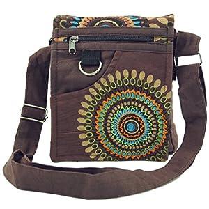 GURU SHOP Pequeño Bolso de Hombro, Bolso Hippie, Bolso Goa - Negro, Unisex - Adultos, Algodón, 18x16x4 cm, Bolsas de… | DeHippies.com