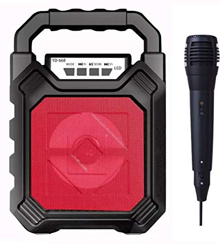 V88R® Portable Karaoke Machine,Wireless Bluetooth Speaker for Kids & Adults PA System with Disco Ball Wired Microphone for Party/Wedding/Meeting/Christmas/Performance