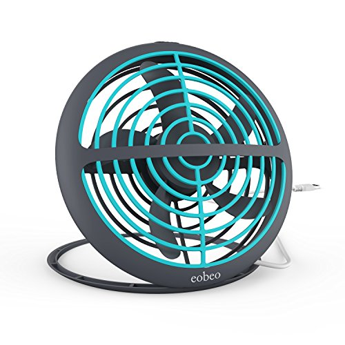 Eobeo Small USB Desk Fan Mini Personal Portable Cooling for Office House Dorm Outdoor Travel Camping Kids Tabletop Table Powered by USB Port of Computer Power Bank or Charger Adapter Heavy Duty 6 Inch