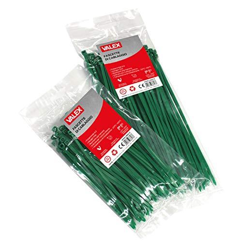 Valex - Bridas de cableado verdes