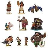 10 Pack Moana Cake Toppers, Moana Action Figure Set