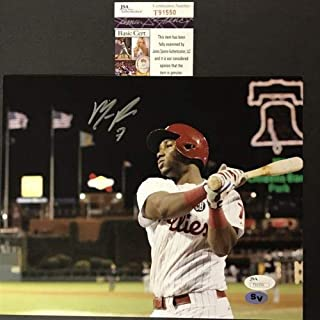 Autographed/Signed Maikel Franco Philadelphia Phillies 8x10 Baseball Photo JSA COA