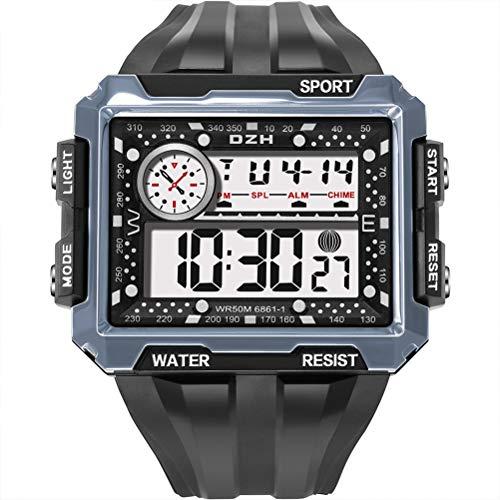 Ahagut Relojes Digitales para Hombre Reloj Deportivo para Exteriores Relojes Impermeables para Regalo de niños pequeños, con Pantalla LED (Gris Oscuro)