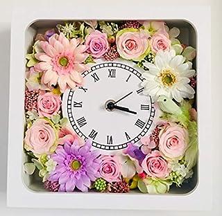 【ギフト&インテリア】花時計・ナチュラル2【花・プリザーブドフラワー・誕生日・結婚祝い・記念日・フラワー時計・フラワークロック】