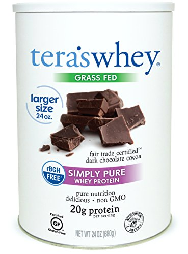 teraswhey Simply Pure Whey Protein, Dark Chocolate, 24 oz