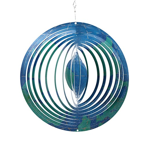 "CEDAR HOME Wind Spectrum Spinner Outdoor Hanging Metal Sculpture Garden Figurine Decor Art Ornament for Lawn Yard Patio 10"", World Travel"