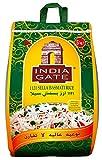 INDIA GATE Sella Basmati Rice, parboiled (aus Indien, feines Langkorn) aromatisch, Vorratspackung - 1er Pack (1 x 5 kg)