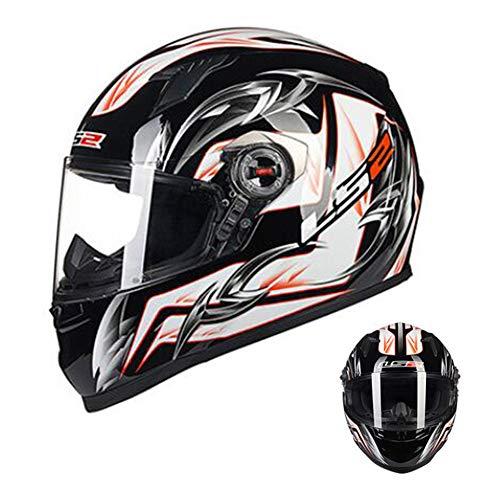 Motorradhelm Rennhelm, Integralhelm Fullface Motorrad Roller Sturz Helm Kopfschutz für Männer Damen,Komfort Atmungsaktiv Adult Endurohelm Crosshelm mit Visier für Quad ATV Downhill Helm,Style 7,XXXL
