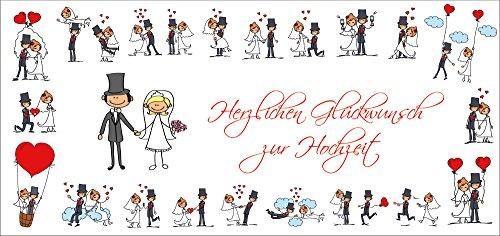Lustige Hochzeitskarte (10653) mit Umschlag: Witzige Glückwunschkarte zur Hochzeit - die originelle Alternative zu herkömmlichen Hochzeitskarten von EDITION COLIBRI ©