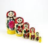 Muñecas Rusas, 6 Matrioskas Rojas de Estilo Semiónov Clásico |...
