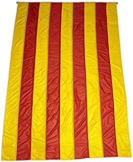 Q&J Bandera Oficial de Catalunya - Medidas 5 MT x 90 cm. - 100% Polyester para Exterior e Interior.