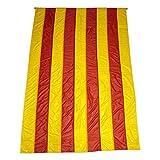 Q&J Bandera Oficial de Catalunya - Medidas 3 MT. x 90 cm. - 100% Polyester para Exterior e Interior.