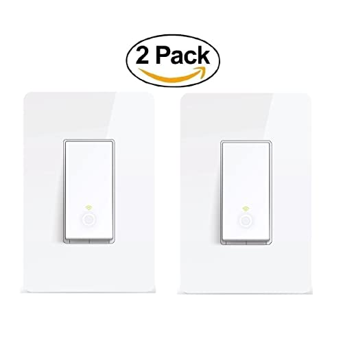 TP-Link Smart Wi-Fi Light Switch, No Hub Required, Single Pole
