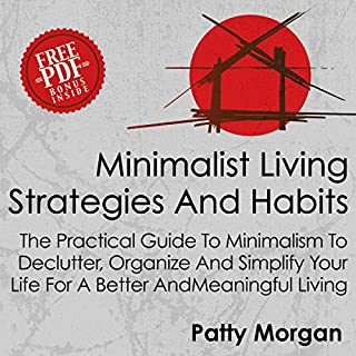 Minimalist Living Strategies and Habits audiobook cover art