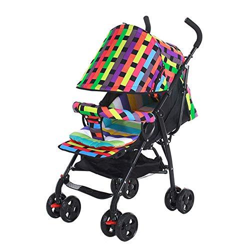 Kids Pram 3 en 1 / Stroller Travel System Manguito mosquitera, portabotellas/almohadilla de algodón grueso/cesta inferior/bolso de momia