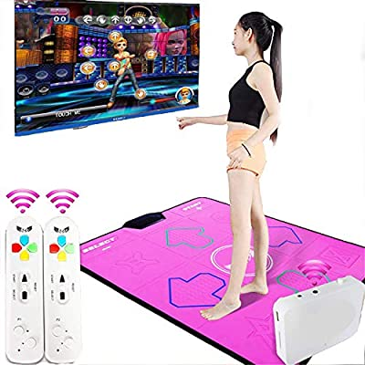 Wireless Dance Mat, Wear-Resistant/Non-Slip Weight Loss Exercise Machine, Dual-Use TV Computer, Indoor Yoga Game Machine, Compatible Memory Card Download, for Children by WFGZQ