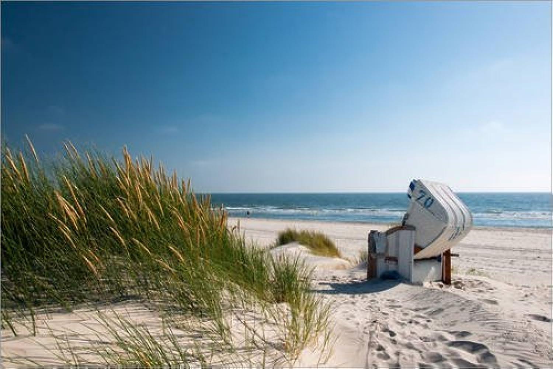 Posterlounge Leinwandbild 90 x 60 cm  Sylt - Nordsee Dünenzauber von Reiner Würz RWFotoArt - fertiges Wandbild, Bild auf Keilrahmen, Fertigbild auf echter Leinwand, Leinwanddruck