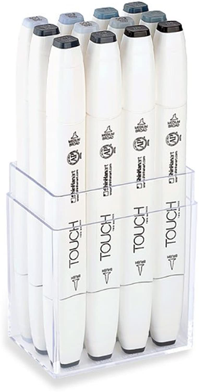 ShinHan     Touch Twin 12 Brush Marker Pen Set   Blau Grün grau B01LZGZDWB | Neuheit  accef0