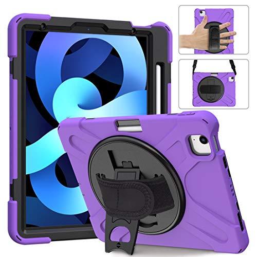 GUOQING Phone Case Pirate Series - Carcasa para iPad Air4 de 11' 2020, a prueba de caídas, polvo, a prueba de golpes, rotación de 360 grados (color: morado)
