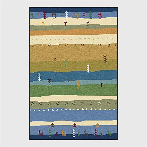 YXISHOME Alfombra De Salón Moderna Tradicional Vintage Alfombras Patrón Estilo Thnic Colorido...