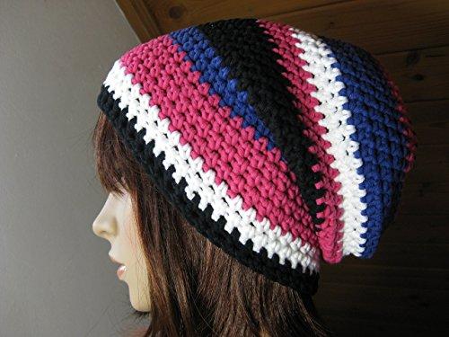 Mütze, Beanie im Boshi Style aus Baumwoll-Mischgarn, ohne Wolle