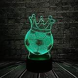 Lámpara Imperial Usb Usb Del Trono De La Corona Imperial Del Fútbol, Regalo Deportivo Del Muchacho, Luz De Bulbo Colorida Del Jugador De Fútbol, Luz De La Atmósfera Del Arte