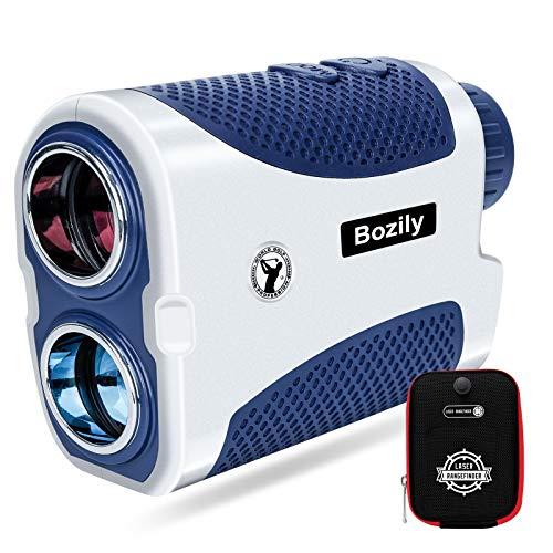 Bozily Telémetro Golf Caza 1500 Yardas, 6X Aumento Laser Range Finder con Pendiente On Off, Flag-Lock Tech con Vibración, Medición de Velocidad, Escaneo Continuo, Batería, para Golfista Profesional
