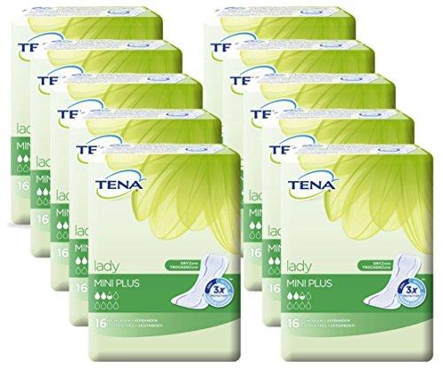 Einlagen Tena Lady Mini Plus 10x16Stk Odour Control weiß