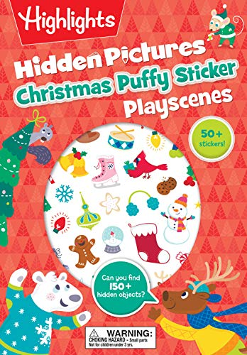 Christmas Hidden Pictures Puffy Sticker Playscenes (Highlights Puffy Sticker Playscenes)