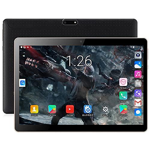 GAOword Tableta de 10,1 Pulgadas 2 GB + 32GB Tableta móvil Octa-núcleo con Tarjeta SIM Dual Slot y cámara IPS Pantalla táctil HD WiFi Bluetooth GPS 5000mAh, FM, Negro