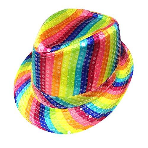 Dress Up America 668.0 Erwachsener Regenbogen gestreifter Hut, Mehrfarbig, Einheitsgröße