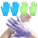 Green Home Double Sided Exfoliating Gloves Body Scrubber Scrubbing Glove Bath Mitts Scrubs for Shower, Body Spa Massage Dead Skin Cell Remover (Pack Of 1)