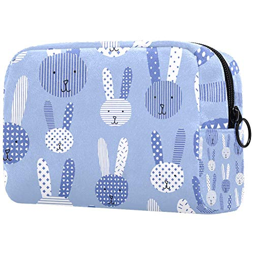 Trousse de toilette personnalisable pour femme Motif lapins mignons