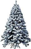 Árbol de Navidad Árbol de Navidad Artificial Árbol de Navidad Flocado Decorado con bisagras Soporte de Pino de Metal Premium Auto-propagación para Decoraciones del hogar 1109 (Tamaño: 9.8Ft (300CM))